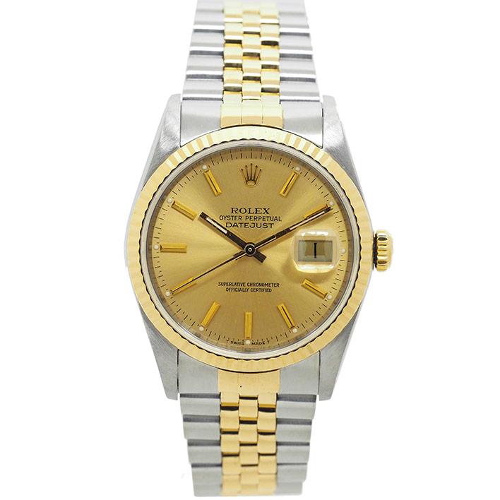 【エントリーでポイント5倍】 【中古】ロレックス デイトジャスト Ref. 16233 メンズ ROLEX DATEJUST【腕時計】 ギフト プレゼント