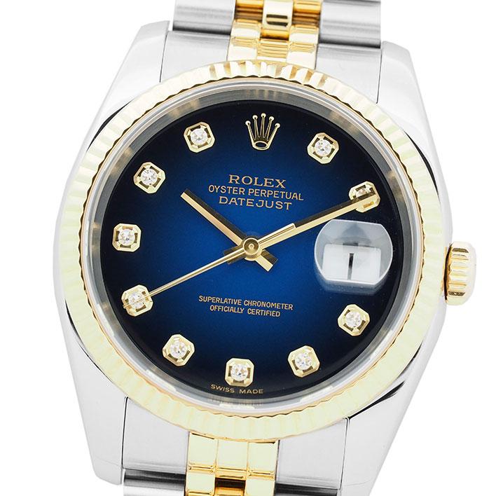 【エントリーでポイント5倍】 【中古】ロレックス デイトジャスト Ref. 116233G メンズ ROLEX DATEJUST【腕時計】