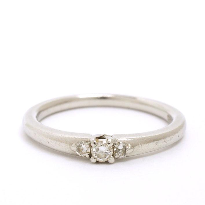 【中古】スタージュエリー 3P ダイヤモンド リング プラチナ950 8号【指輪】【GOODA掲載】