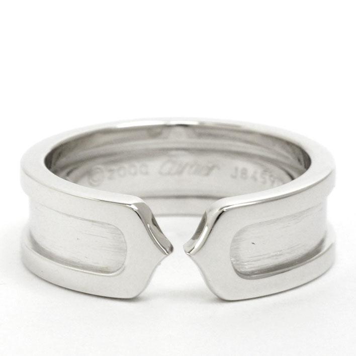 【中古】カルティエ 2C C2 Cドゥ ロゴ リング 18金ホワイトゴールド 51【指輪】【GOODA掲載】【新品仕上げ済み】