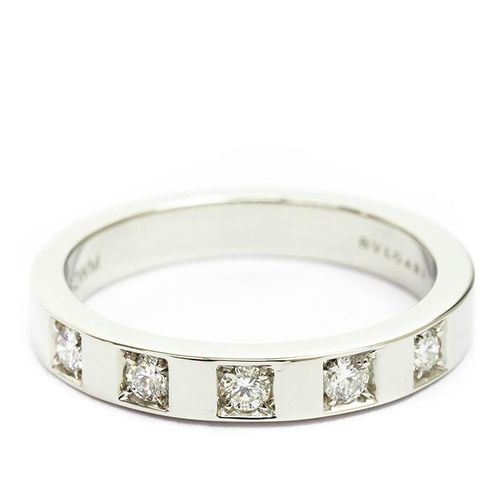 【中古】ブルガリ マリー・ミー 5P ダイヤモンド リング プラチナ950 8号【指輪】【GOODA掲載】【新品仕上げ済み】