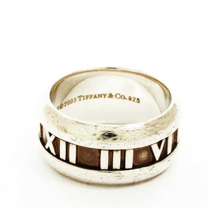 【中古】ティファニー アトラス ワイドリング シルバー 11号【指輪】【GOODA掲載】