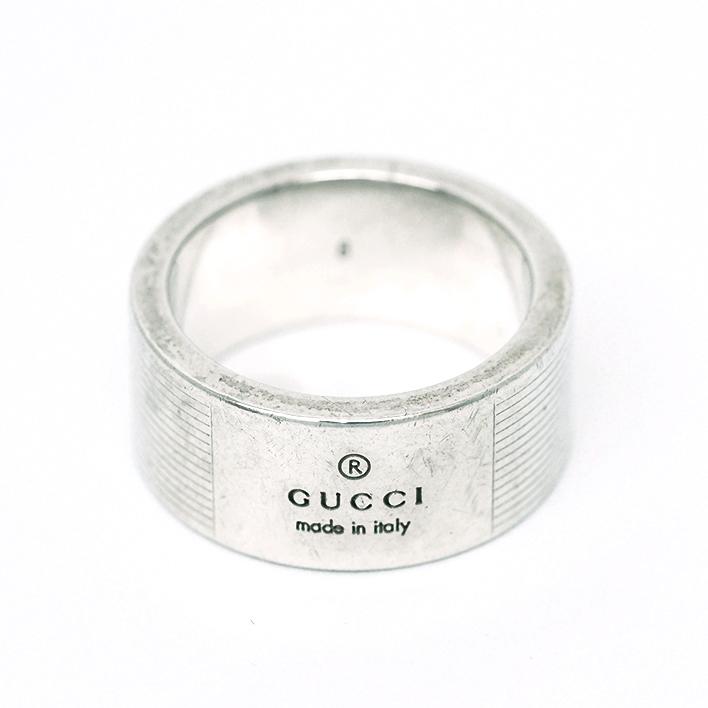 【中古】グッチ ロゴリング シルバー 8号【指輪】【GOODA掲載】