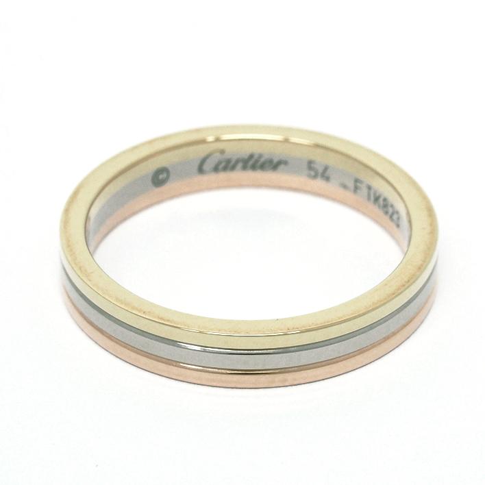 Cartier 【中古】カルティエ トリニティリング スリー 18金ホワイトゴールド/18金イエローゴールド/18金ピンクゴールド 54【指輪】【GOODA掲載】【新品仕上げ済み】