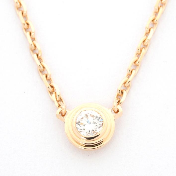 【新品仕上げ済み】カルティエ ディアマンレジェ ダイヤモンド 18金ピンクゴールド【ペンダント】