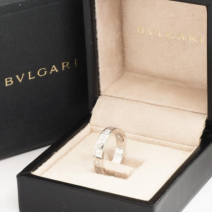 【中古】BVLGARI ブルガリ ブルガリ・ブルガリ 1Pダイヤモンド リング 10.5号 750/K18WG/ダイヤモンド リング ギフト プレゼント【GOODA掲載】【新品仕上げ済み】