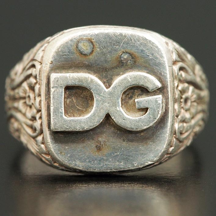 【中古】D&G ロゴリング 指輪 21号 レディースジュエリー アクセサリー ギフト プレゼント【GOODA掲載】