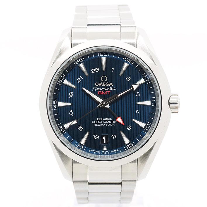【中古】【未研磨品】 オメガ シーマスター アクアテラ コーアクシャル GMT Ref. 23110432203001 メンズ OMEGA Seamaster AQUATERRA CO-AXIAL GMT【腕時計】