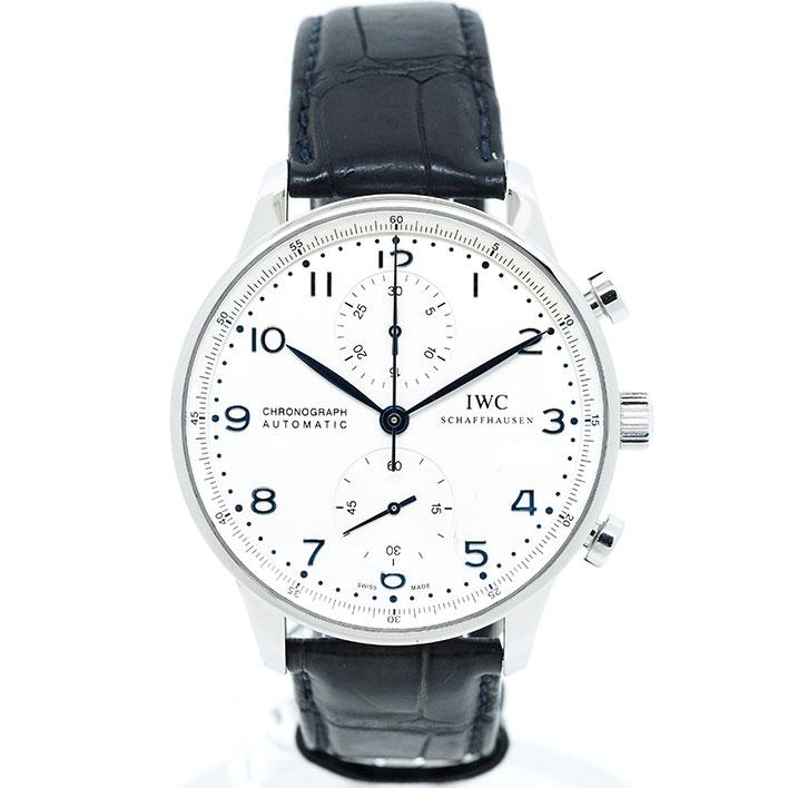 【エントリーでポイント5倍】 【中古】インターナショナル・ウォッチ・カンパニー ポルトギーゼ クロノ Ref. IW371446 メンズ IWC Portuguese Chrono【腕時計】