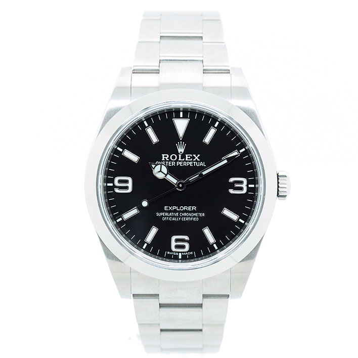 【エントリーでポイント5倍】 【中古】【未研磨品】 ロレックス エクスプローラー I Ref. 214270 メンズ ROLEX EXPLORER I【腕時計】