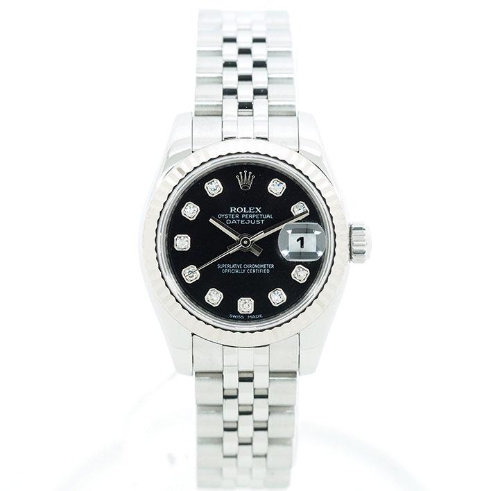 【エントリーでポイント5倍】 【中古】ロレックス デイトジャスト Ref. 179174G レディース ROLEX DATEJUST【腕時計】