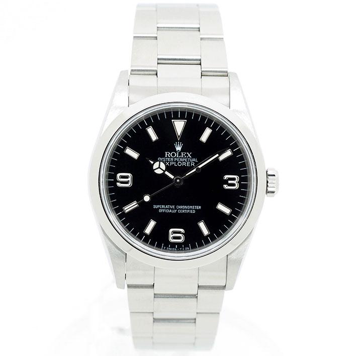 【エントリーでポイント5倍】 【中古】ロレックス エクスプローラーI Ref. 14270 メンズ ROLEX EXPLORER I【腕時計】