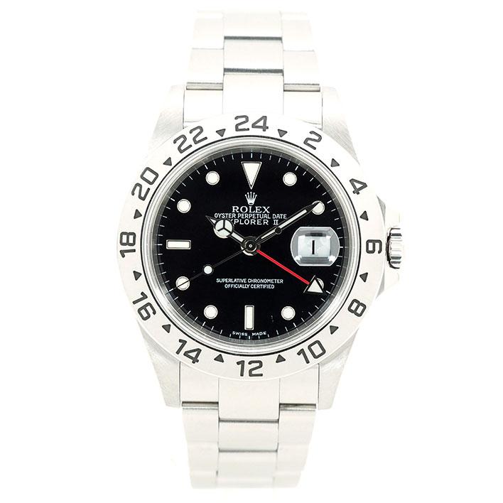 【エントリーでポイント5倍】 【中古】ロレックス エクスプローラー II Ref. 16570 メンズ ROLEX EXPLORER II【腕時計】