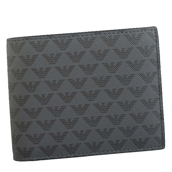 エンポリオアルマーニ 財布 メンズ 二つ折り財布 EMPORIO ARMANI 2ORI E.アルマーニ Y4R065 YG91J 81072 2ツオリコゼニ BK CHNAV9023