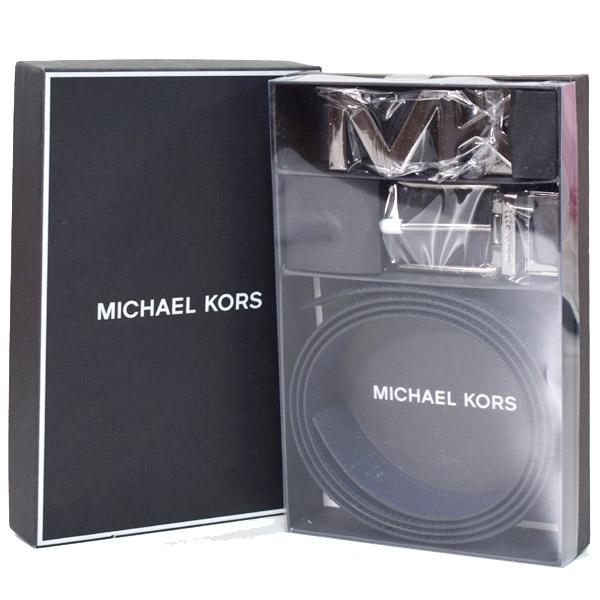 マイケルコース 小物 MICHAEL KORS メンズ コーティングキャンバス レザー モノグラム リバーシブル ベルト ボックス セット バルティックブルー 36T8LBLY7B【ブランド 新品 送料無料 誕生日 記念日 お祝い 正規 人気 安心 保証 ギフト】
