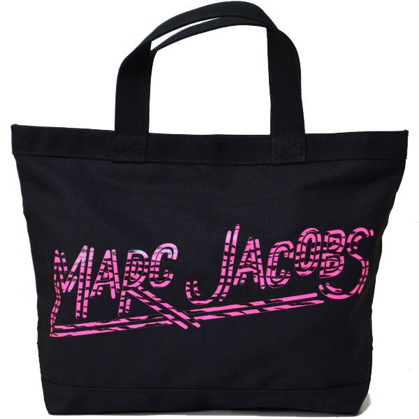 マークバイマークジェイコブス バッグ MARC BY MARC JACOBS ロゴ プリント ジャガード キャンパス トート ショルダーバッグ ブラック M0010911【ブランド 新品 送料無料 誕生日 記念日 お祝い プレゼント】