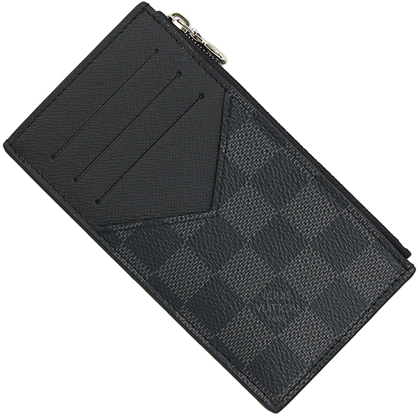 f2c19e44b98a ACROSS  LOUIS VUITTON Coin case Card holder Damier graphite Wallet ...