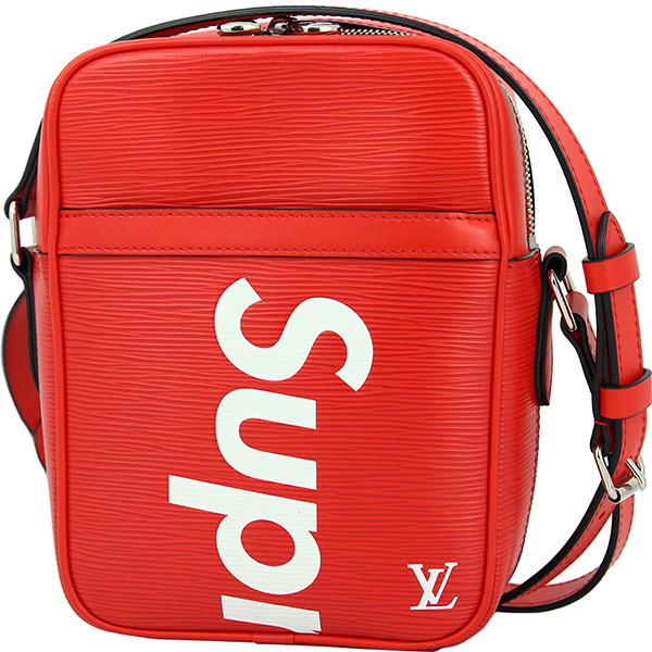 ACROSS: LOUIS VUITTON Supreme DANUBE PM EPI Leather Red White
