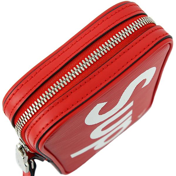 ad695e043db LOUIS VUITTON Supreme DANUBE PPM EPI Leather Red White Shoulder bag [Used]
