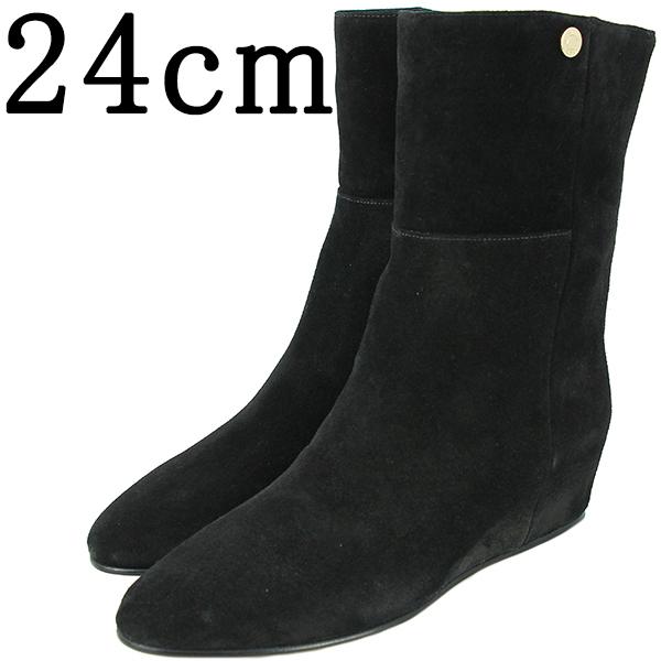 ジミーチュウ ショートブーツ 24cm #37 OXANA オクサナ インヒール レディース スエードレザー ブラック 黒 JIMMY CHOO 靴 シューズ 本革 女性 おしゃれ かわいい シンプル ミドル ハーフ ブランド プレゼント 送料無料
