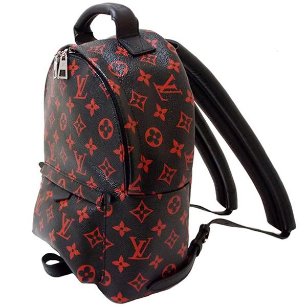 0261ae1f1fe LOUIS VUITTON Palm Springs backpack PM Monogram Infrarouge Black Red Men  Women [Used]