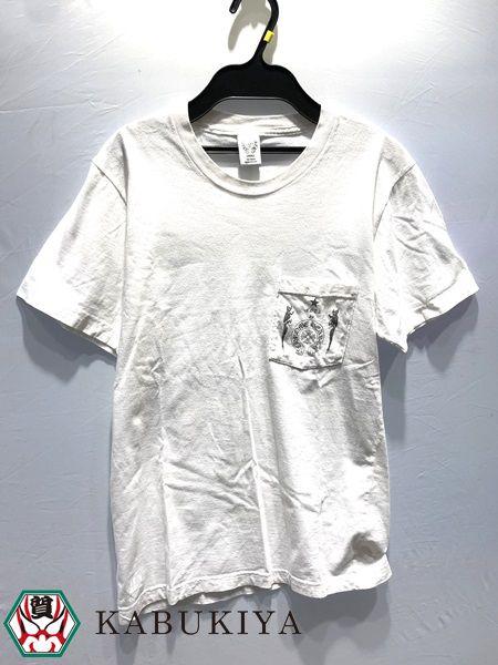 CHROME HEARTS クロム ハーツ Tシャツ Sサイズ カットソー トップス ショートスリーブ 半袖 丸首 コットン クロス CH ホワイト 白 ポケット メンズ 人気ブランド【中古】xx18‐34900YU