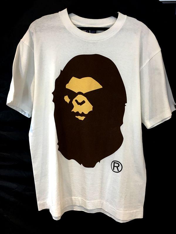 A Bathing Ape ア ベイシング エイプ Tシャツ ホワイト 白 メンズ・レディース 人気ブランド【中古】 05-2423KJ