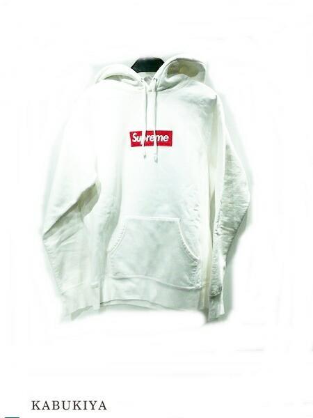 Supreme シュプリーム 16AW ボックス ロゴ パーカー コットン 100% ホワイト 白 メンズ・レディース 人気ブランド【中古】 xx17-31661AR