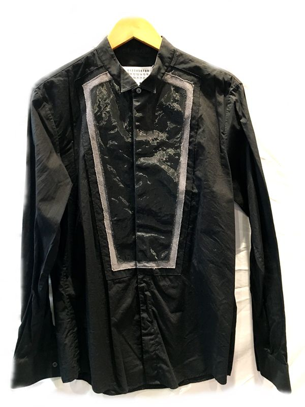 Martin Margiela マルタンマルジェラ シャツ ブラック 黒 メンズ 人気ブランド【中古】 17-32714KJ