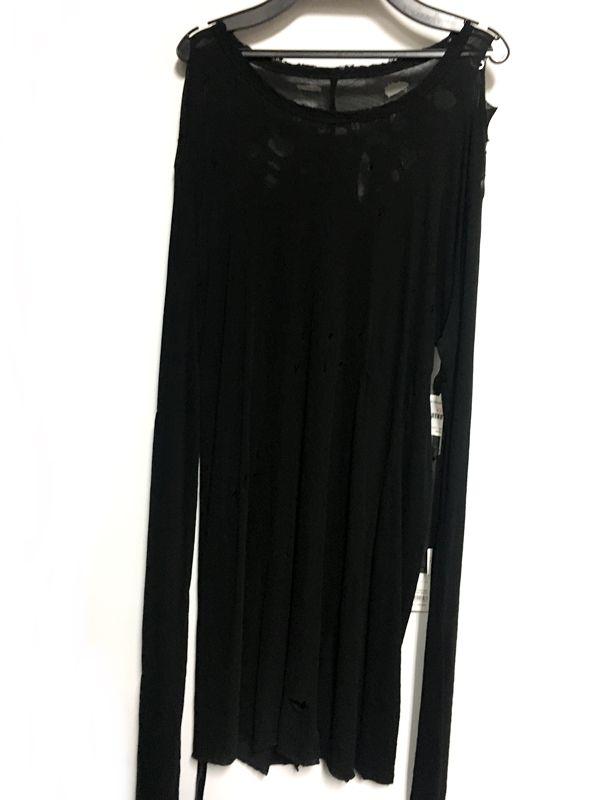 BEN TAVERNITI UNRAVEL PROJECT ロンT Tシャツ ブラック 黒 メンズ 人気ブランド【中古】 18-7383KJ