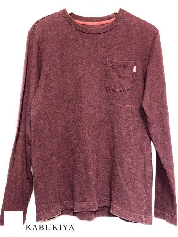 Supreme シュプリーム S ロングスリーブTシャツ Tシャツ ロンT エンジ 長袖 USED シュプ メンズ 人気ブランド【中古】18-21683MI