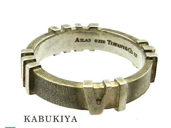 Tiffany&Co ティファニー アトラスリング 14号 SV925 シルバー 銀 指輪 アクセサリー ユニセックス 人気ブランド【中古】 19-43813TK