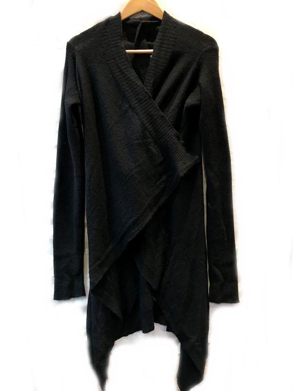 RICK OWENS リックオウエンス カーディガン ブラック 黒 メンズ レディース 人気ブランド【中古】 7-802KJ