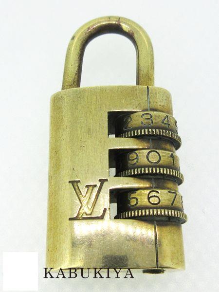 LOUIS VUITTON ルイ ヴィトンダイヤル式パドロック ゴールド鍵 カギ 人気ブランド【中古】xx19-22054AT