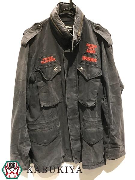 ブランド品 高価買取中 HYSTERIC GLAMOUR ヒステリックグラマーM-65 ジャケット 年間定番 上着 黒系メンズ 人気ブランド ジャンパー ブラック系 超激安特価 ミリタリー xx18-3150YU 中古