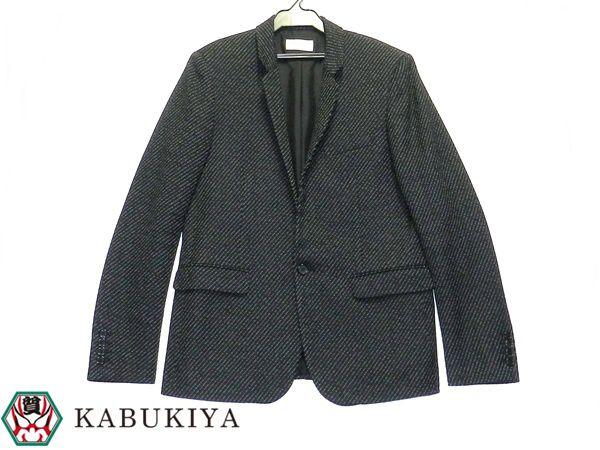SAINT LAURENT サンローラン ウールジャケット アウター 上着 48サイズ ブラック メンズ 人気ブランド【中古】 19-39222IH