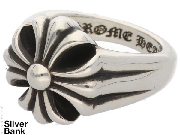 CHROME HEARTS クロムハーツ ラージカットアウトCHプラスリング 14号 #54 SV925 シルバー 指輪 CH クロス メンズ・レディース アクセサリー 人気ブランド【中古】18-27044Mo
