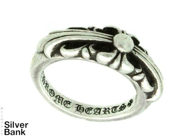 Chrome Hearts クロムハーツベイビークラシックフローラルクロスリング 指輪 シルバー アクセサリー SV925メンズ・レディース ユニセックス 人気ブランド【中古】xx19-16380AO