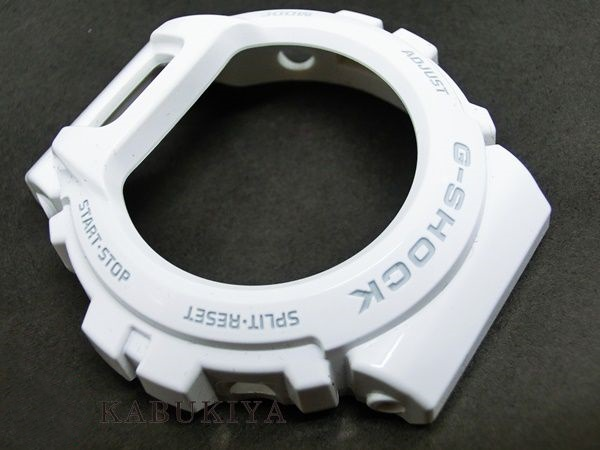 """CASIO Casio g-shock DW-6900 for genuine bezel case replacement for drivers with parts white (grey logo part) white custom dress-up parts G shock """"popular watch brands still used DW6900-P-WHTMT"""