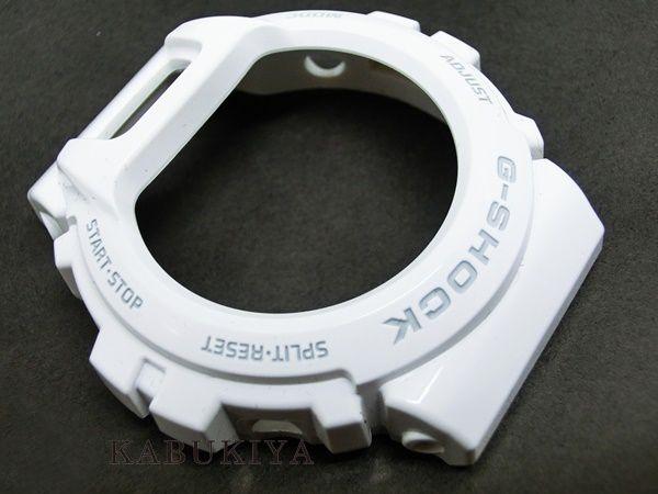CASIO 카시오 G-SHOCK 파트 DW-6900 용 순정 베젤 케이스 교체 드라이버를 갖춘 화이트 (로고 부분 회색), 흰색 지정 교체 복장 부속 G 충격 지 쇼크 인기 시계 브랜드 미사 용품 DW6900-P-WHTMT