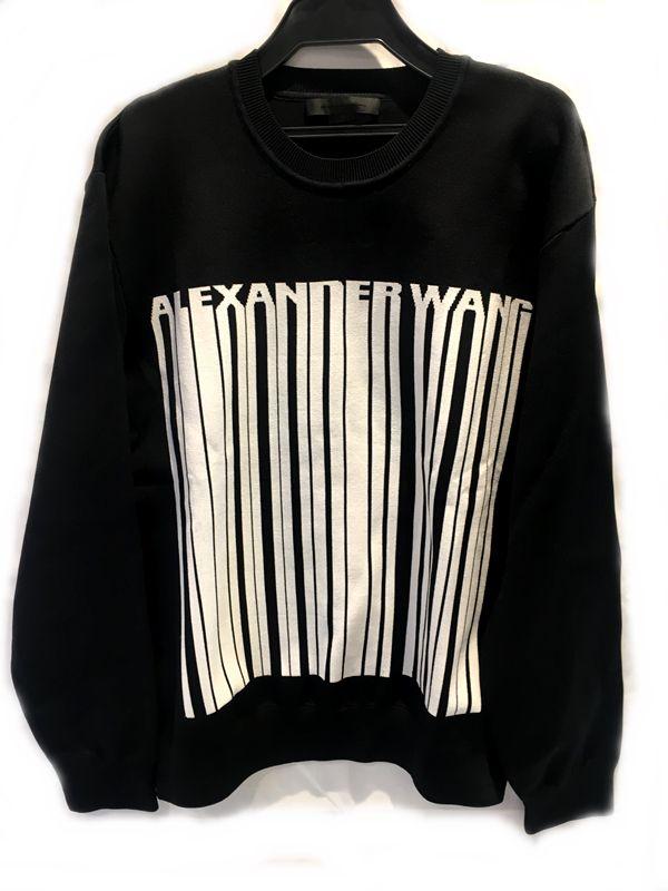 ALEXANDER WANG アレキサンダー ワン ニット セーター ブラック系  メンズ 人気ブランド【中古】 17-10140KJ