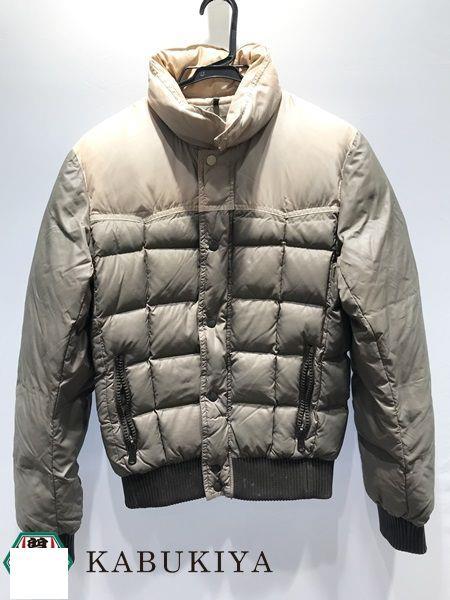 Dior ディオール ダウン ジャケット 44サイズ アウター ブルゾン 上着 コート ジャンパー ボタン ファスナー カーキ 緑系 ベージュ 白系 レディース 人気ブランド【中古】xx18-298YU