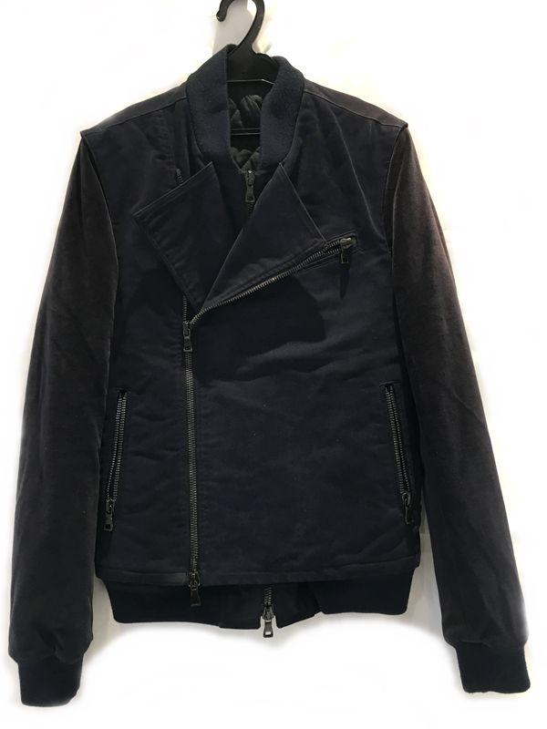 BALMAIN バルマン ブルゾン ジャケット 袖:ベロア地ネイビー系 メンズ 人気ブランド【中古】 18-4488KJ