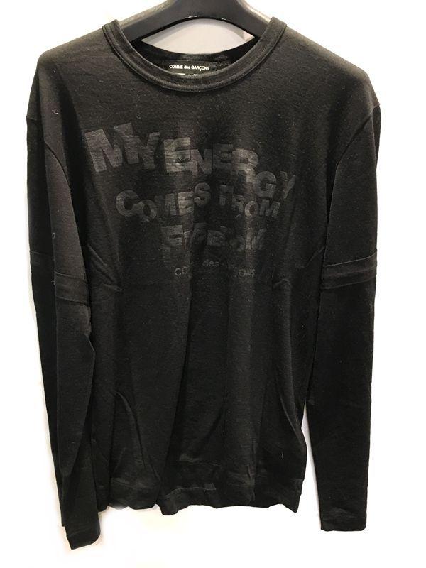 COMME des GARCONS コムデギャルソン ロンT 長袖 Tシャツ ブラック系 メンズ 人気ブランド【中古】 70-453KJ