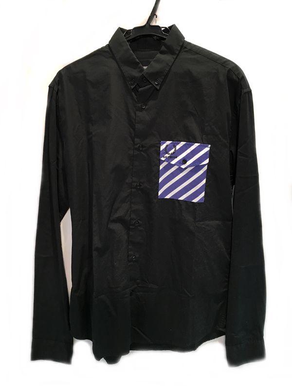 RAF SIMONS(ラフシモンズ) シャツ ブラック系 メンズ 人気ブランド【中古】 70-1095KJ