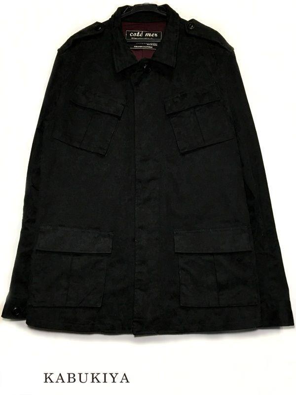 COTE MER コートメール M65 JKT ミリタリー 黒 フィールド ジャケット 迷彩 サイズ L ブラック 系 長袖 アウター カモフラージュ black 古着 USED メンズ 人気ブランド【中古】17-15194MI