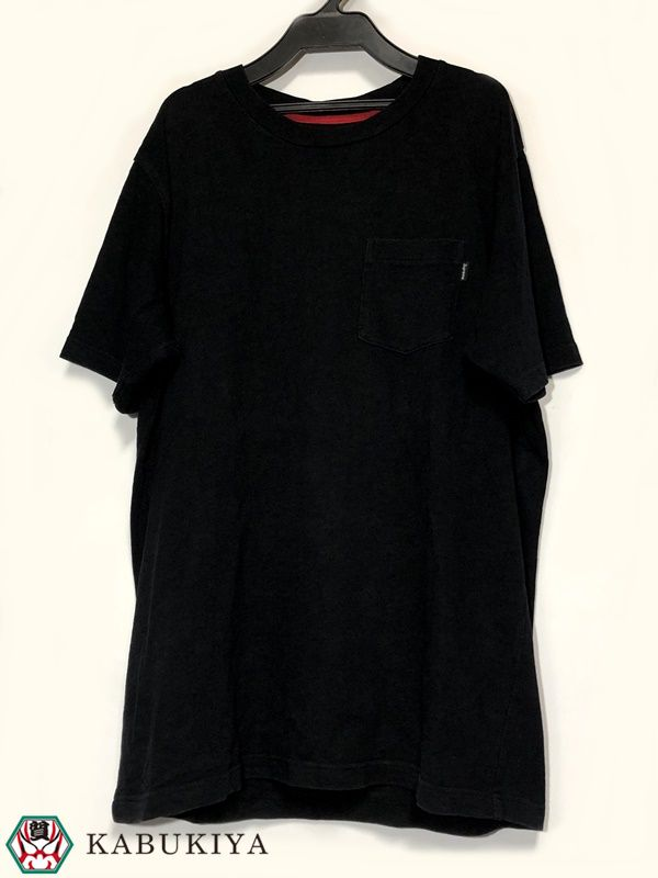 Supreme シュプリーム Tシャツ サイズ M 半袖 トップス ブラック 黒 古着 USED シュプ BLACK メンズ 人気ブランド【中古】17-43032MI