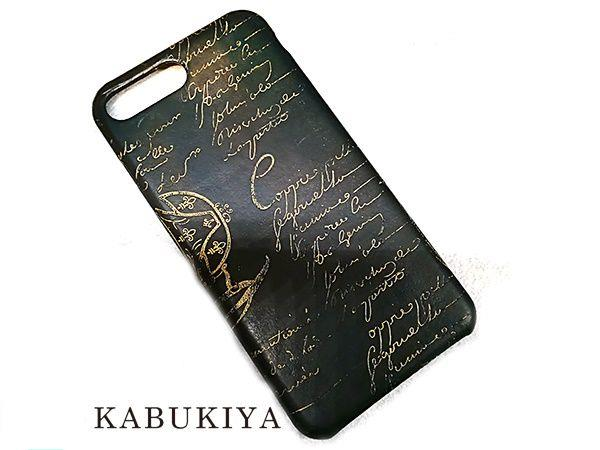 Berluti ベルルッティ iPhoneケース アイフォン 7 Plus/8 Plus仕様 ブラック系 携帯カバー 人気ブランド【中古】 17-50531CC