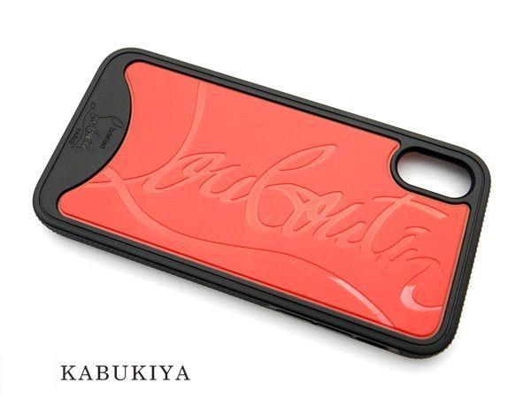 Christian Louboutin クリスチャンルブタン iPhoneX アイフォンケース カバー ブラック レッド メンズ・レディース 人気ブランド【中古】 20-2862IH