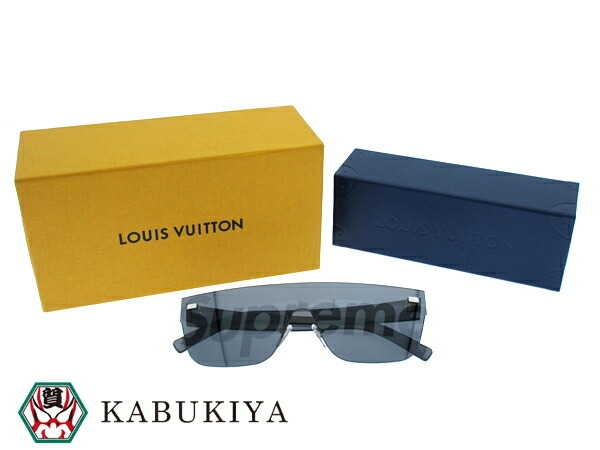 56425500f LOUIS VUITTON X Supreme City Mask SP Sunglasses Plastic Black Z0986U □  xx17-31815AO □